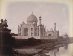 The Taj Mahal from the north-east, Agra